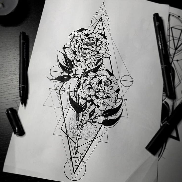 Тату эскизы стволы с переплетением роз