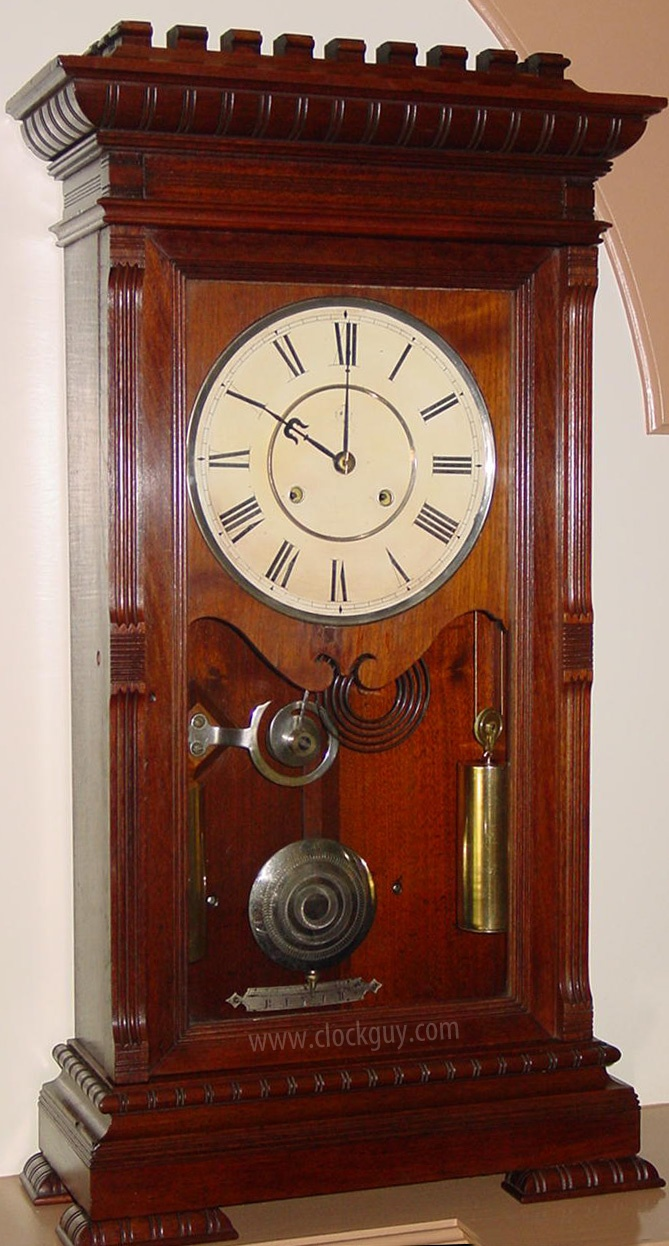 Wide grandfather clock