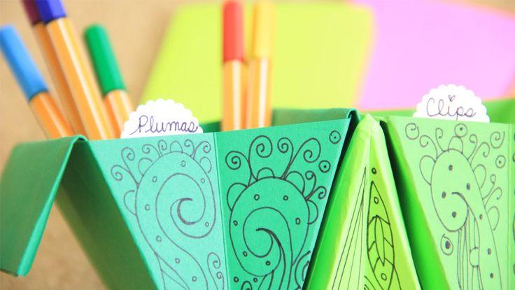 Accordion box: easy origami accordion organizer | Craftingeek