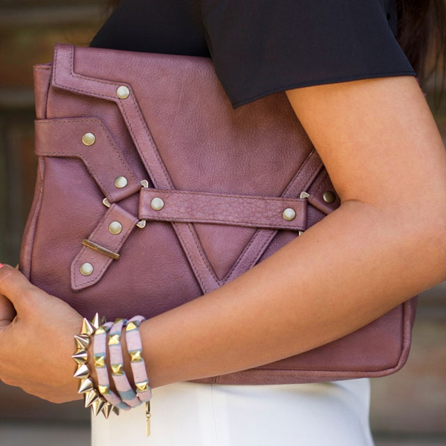Bette Clutch - love the cluth and the spike bracelets!!!
