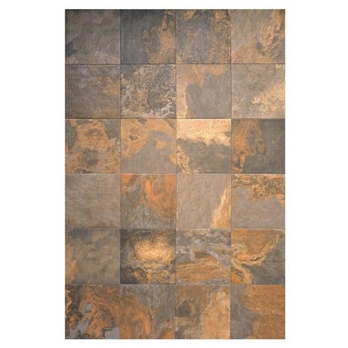 Interceramic 16 Quot X 16 Quot Multicolor Slate Ceramic Floor Tile