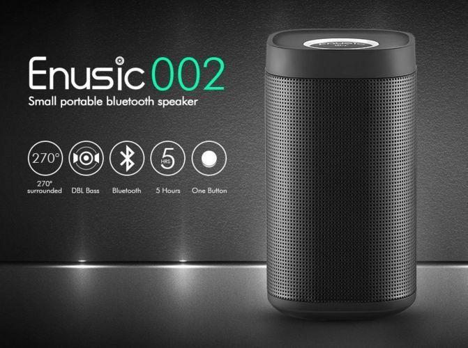 Enusic 002 Bluetooth Speaker Metal Shell CSR4.0 3D Surround Sound 5H Playtime  | eBay