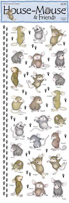 House Mouse stickers - for embellishing treat bags and auction ticket bags. $1.99