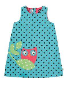 Frugi omkeerbare jurk uil Owl Pinafore dress €33,99 eco bij-izy.nl