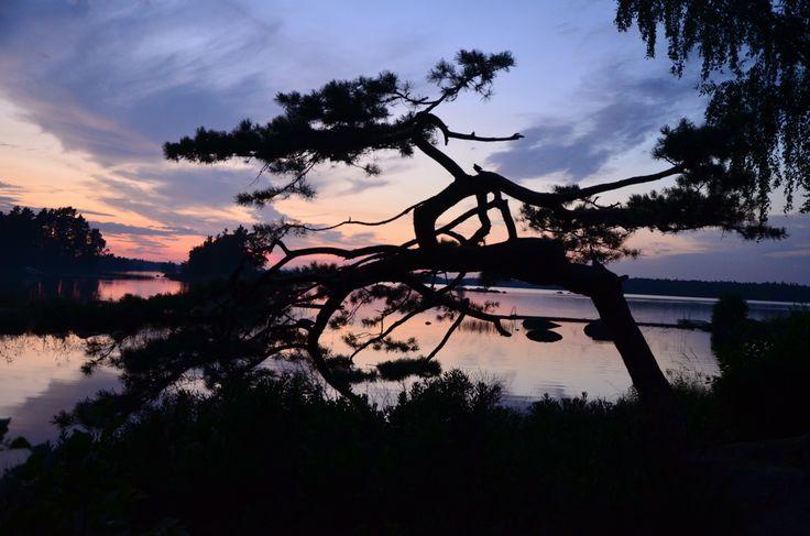 Sonnenuntergang auf dem Campingplatz Getnö Gard