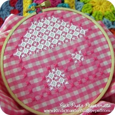 Chicken Scratch Embroidery Little Cottage - Free Pattern.  My great-grandmother used to do this & I always loved it.  I had a pillow done on blue gingham.  So happy to find this pattern so I can make something myself.  Can't let the old crafts die out, people!!