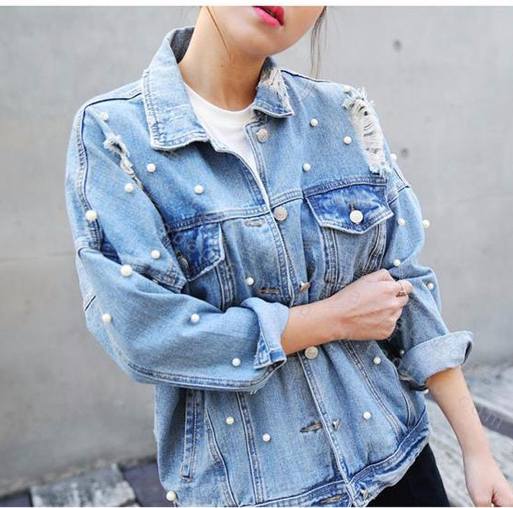 Ripped Jeans Selber Machen 259 Best Embellished Denim Jackets Images On Pinterest