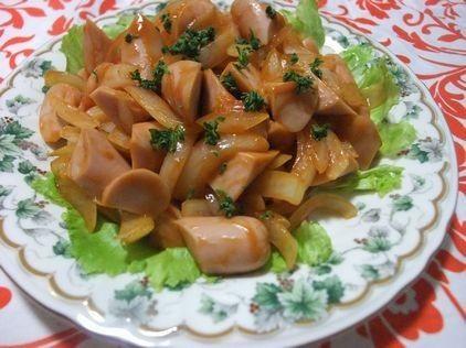 魚肉ソーセージと玉ねぎのイタリアン炒め by HYDKM [クックパッド] 簡単おいしいみんなのレシピが220万品