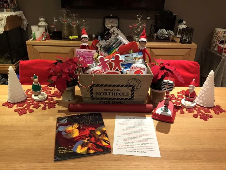 Christmas Eve - TRADITION!!! The elves left gingerbread cookie ingredients and some new cutters, tshirts to decorate, reindeer food ingredients, pjs, books and heaps of fun stuff #elfontheshelf #elvisandeffie