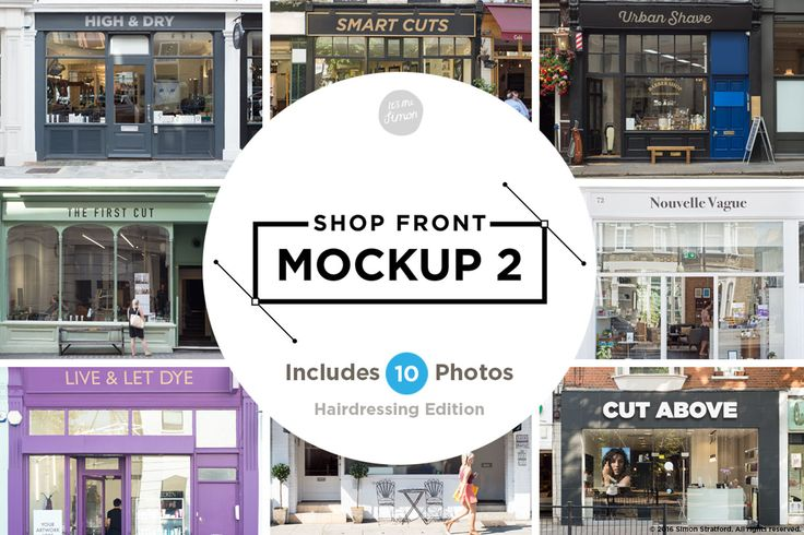 Shop facade mockup 2 by simonok on Envato Elements