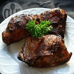 Cuisses de poulet marinées au barbecue