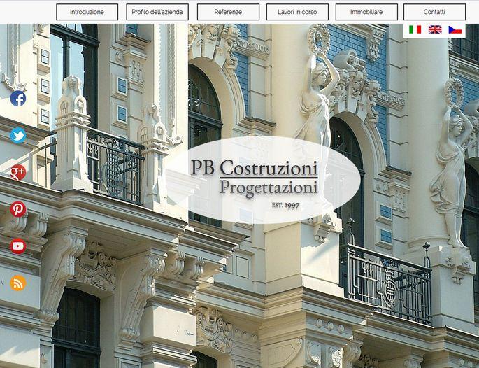 Tvorba webových stránek PB Costruzioni dokončena!