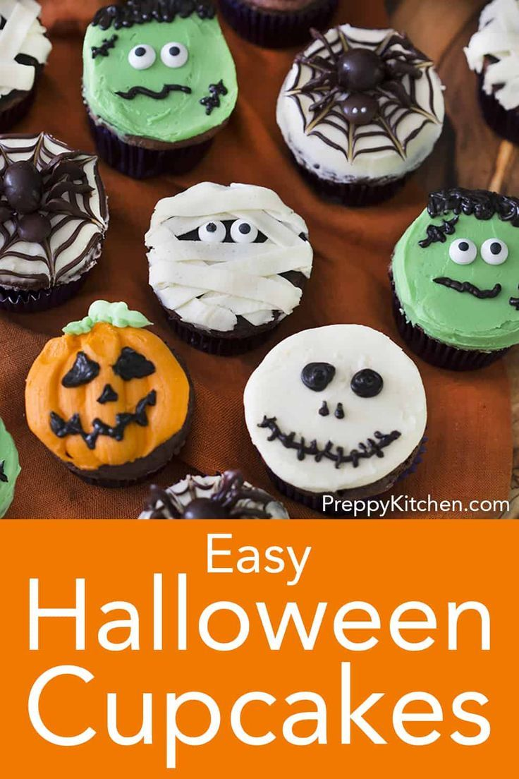Perfectly Spooky And Delicious Chocolate Halloween Cupcakes From