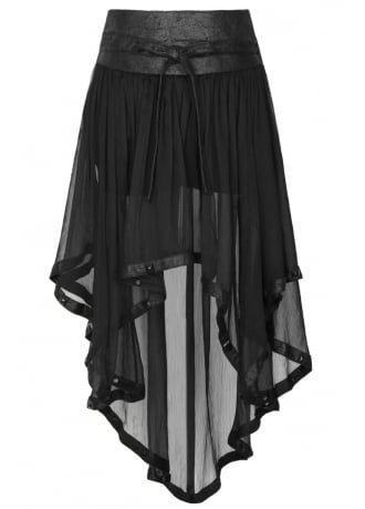 Punk Rave Ghost Skirt With Shorts