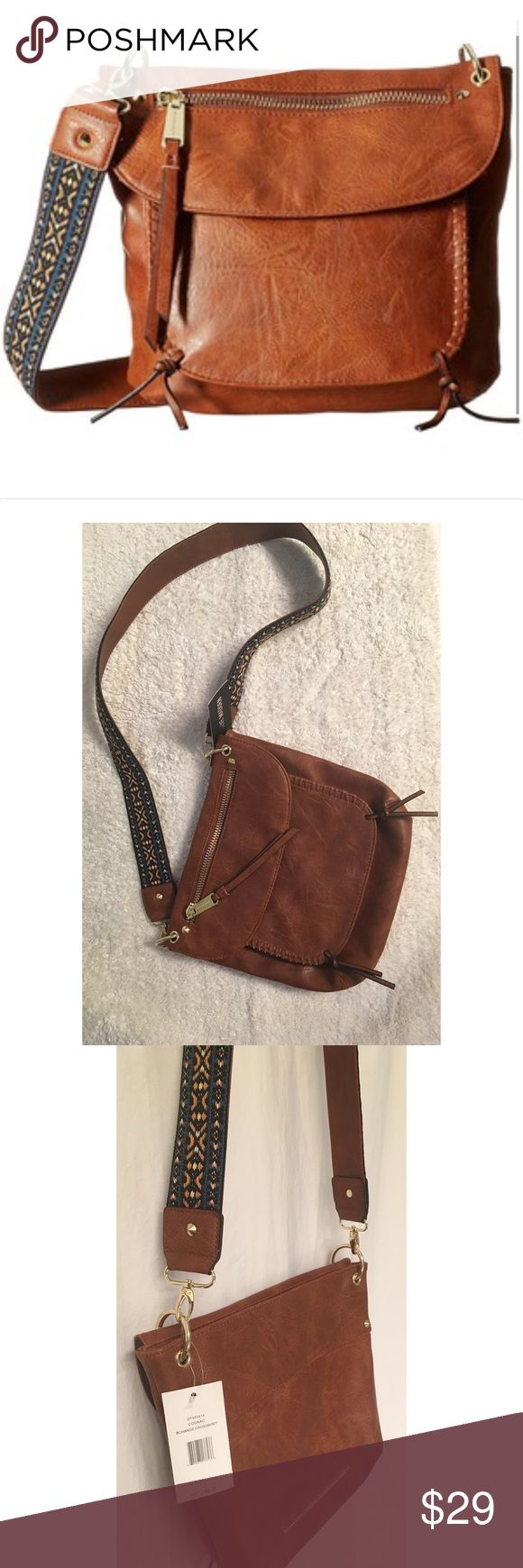 🎉1 day sale🎉Steve Madden crossbody purse!! NWT! Brown Steve Madden crossbody purse!! Strap is embroidered. Gold zippers and detail! NWT! Never used and in excellent condition!! Steve Madden Bags Crossbody Bags
