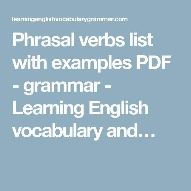 The 25+ best Verbs list ideas on Pinterest English verbs list - verb list