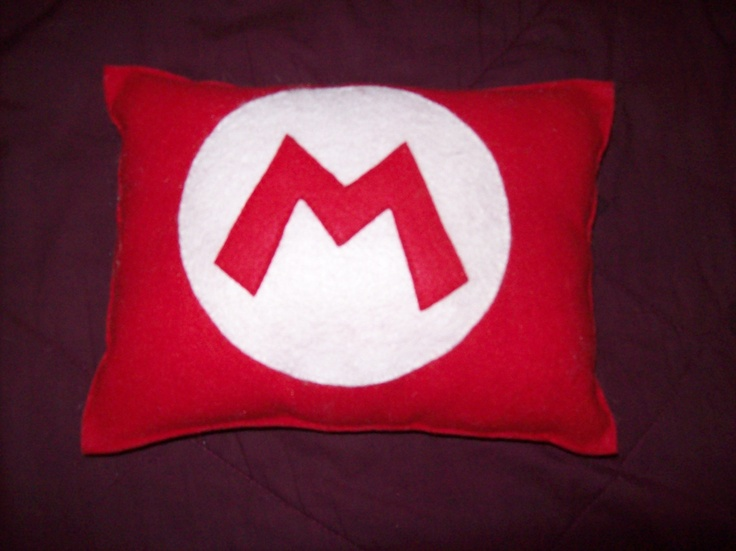 Super Mario Bros. M Pillow/Super Mario Bros. L Pillow. $24.99, via Etsy.