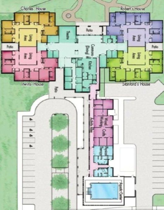 inpatient rehabilitation unit floor plans Google Search