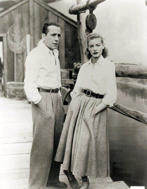 Humphrey Bogart and his fourth and final wife until his death, Lauren Bacall.: Key Largo, Fashion, Style, Vintage, Laurenbacall, Lauren Bacall, Humphrey Bogart, Humphreybogart