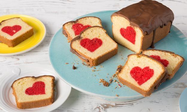Rührkuchen mit Herz / Patch cake » Sanella