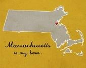 massholeSweets Home, Favorite Places, Boston, Massachusetts Prints, Dirty Water, Massachusettstravel Guide, Illustration Prints, Heart Massachusetts, Home Massachusetts