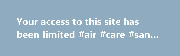 Your access to this site has been limited #air #care #san #antonio http://colorado.nef2.com/your-access-to-this-site-has-been-limited-air-care-san-antonio/  # Your access to this site has been limited Your access to this service has been temporarily limited. Please try again in a few minutes. (HTTP response code 503) Reason: Access from your area has been temporarily limited for security reasons. Important note for site admins: If you are the administrator of this website note that your…