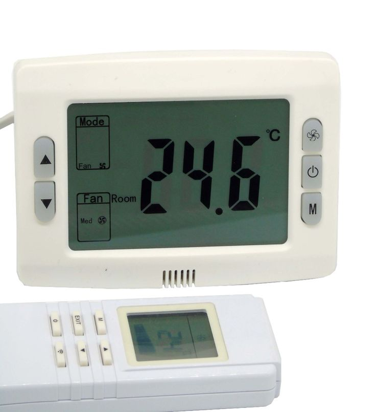 Rectangle fan speed controller Infrared control thermostat regulator with fan coil unit