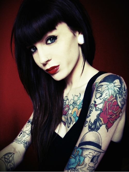 17 best images about models with tattoos on pinterest for Hair tattoo for girl