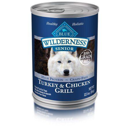 BLUE Wilderness High Protein Grain-Free Senior Wet Dog Food Turkey & Chicken  Grill 12.5