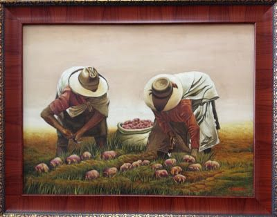 The Potato Pickers  by C. Salvador