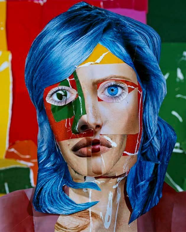 Portrait with Blur Hair by Daniel Gordon