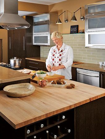 Butcher Block Kitchen Island Pros And Cons : 425 best Wood Countertops images on Pinterest Butcher blocks, Wood counter stools and Wood ...