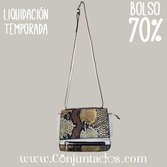 Bolso bandolera con animal print en tono beige ★ ahora solo 7'95 € ★ Cómpralo en https://www.conjuntados.com/es/outlet/bolso-bandolera-con-animal-print-en-tono-beige.html ★ #rebajas #sales #soldes #rabatte #rebaixes #deskontuak #vendas #sconti #bolso #bag #handbag #conjuntados #conjuntada #lowcost #accesorios #complementos #moda
