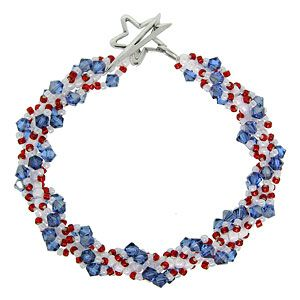38 best fourth of july crafts images on pinterest diy jewelry star spiraled banner bracelet fusion beads inspiration gallery fourth of july jewelry making inspiration fandeluxe Images