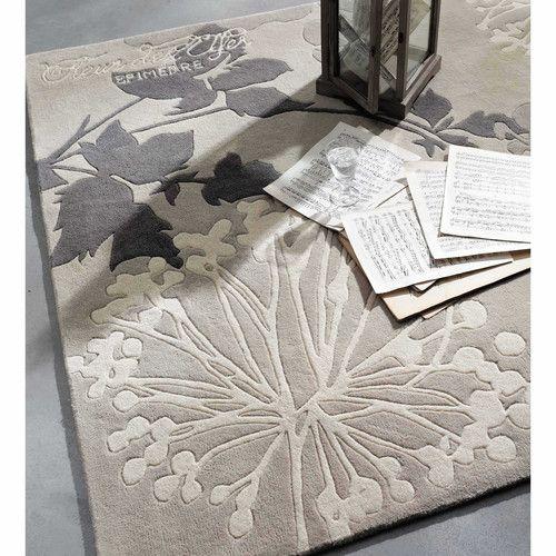 Tappeto grigio in lana a pelo corto 140 x 200 cm EPIMEDRE