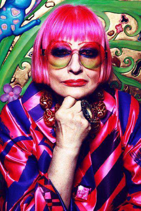 Zandra Rhodes, British fashion designer known for her use of vibrant colours