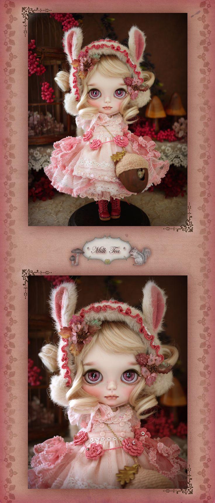 Custom Blythe Dolls: Milk Tea Custom Blythe Acorn & Squirrel - A Rinkya Blog