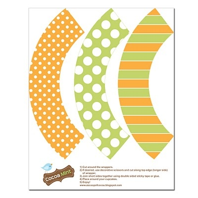 cupcake wrapper free printable