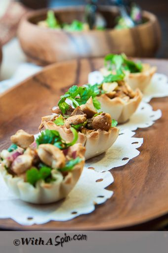 Game day food – Nutty chicken shells « With A Spin | Connecting Desi Elegance with Western Chic through Food, Creativity and family