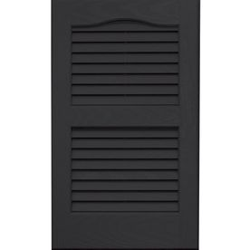 Vantage 2-Pack Louvered Vinyl Exterior Shutters (Common: 14-in x 24-in; Actual: 13.875-in x 23.6875-in)