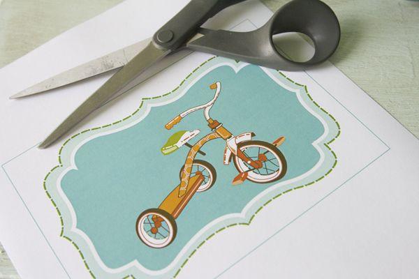 free tricycle print: Tricycle Printable, Tricycle Prints, Handmade Homes, Free Printables Boys Nurseries, Free Prints, Boys Rooms Printables Free, Prints Site, Free Boys Nurseries Printables, Free Tricycle