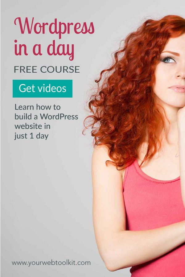 Create a website in WordPress in just one day, using these easy to follow tutorials. This FREE training is perfect for motivated online entrepreneurs who need a website now! Click to get access to the videos