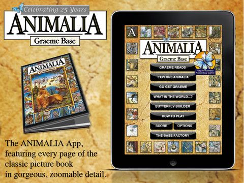 Animalia for iPad - $3.99. What is not to love about this gorgeous app. Featuring all the original artwork from the much loved books, there are loads objects and Graeme himself to find on each page. Lots of fun using the zoom feature too. There are a couple more mysteries and puzzles to solve as well. Really fabulous and (nostalgic) fun for all ages.