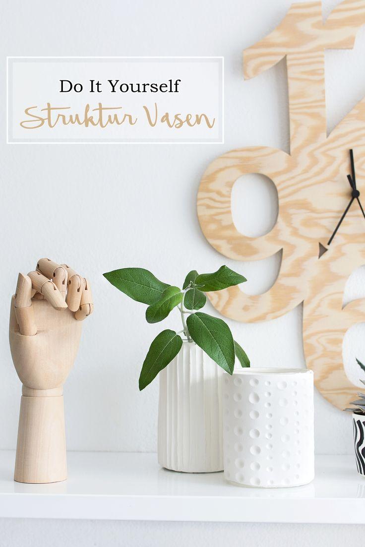 DIY: Struktur Vasen aus Modelliermasse