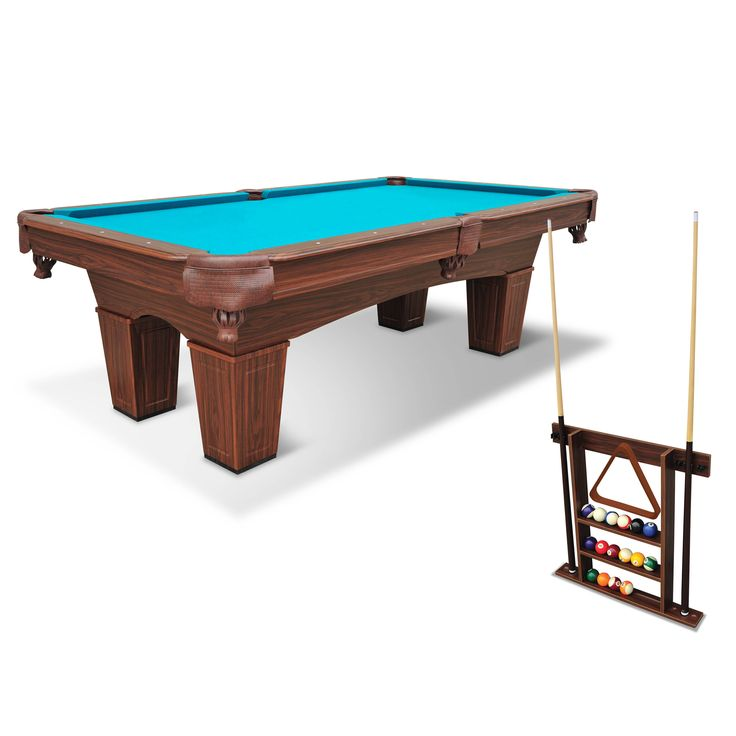 "EastPoint Sports 96"" Chamberlain Billiard Pool Table with Cue Rack - Walmart.com"