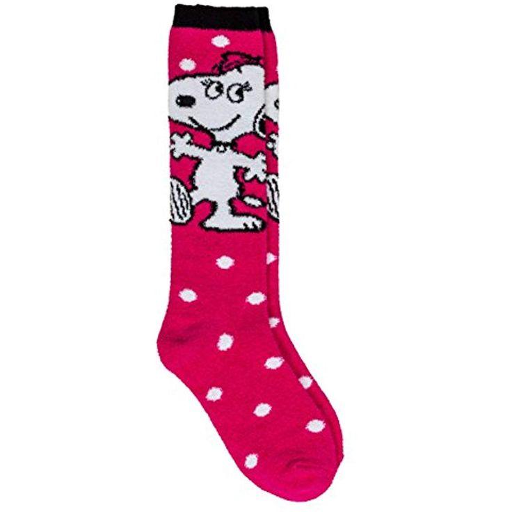 Peanuts Kinder Kniestrümpfe Socken SNOOPY BELLE Größe 31/34 Mädchen pink wei…