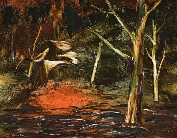 Albert Tucker (1914-1999) - Ibis in the Bush, 1960's