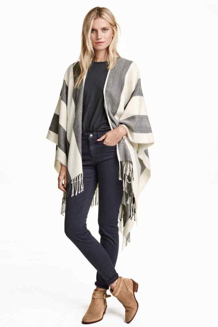 Poncho en laine mélangée | H&M