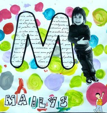 Personalizar con la letra y la foto del alumno la tapa del álbum escolar.