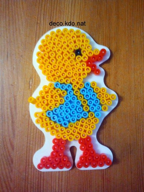 Easter chick hama perler beads by deco.kdo.nat